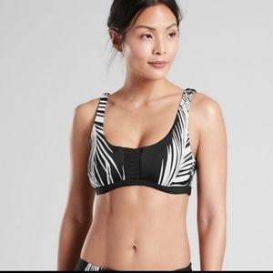 Athleta adriata retro palm black bikini top